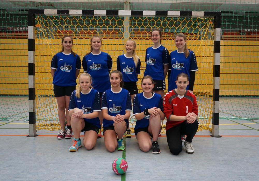 """Die Handballerinen des GiS nahmen an Jugend trainiert für Olympia"""" teil und sicherten sich den zweiten Platz. Foto."""