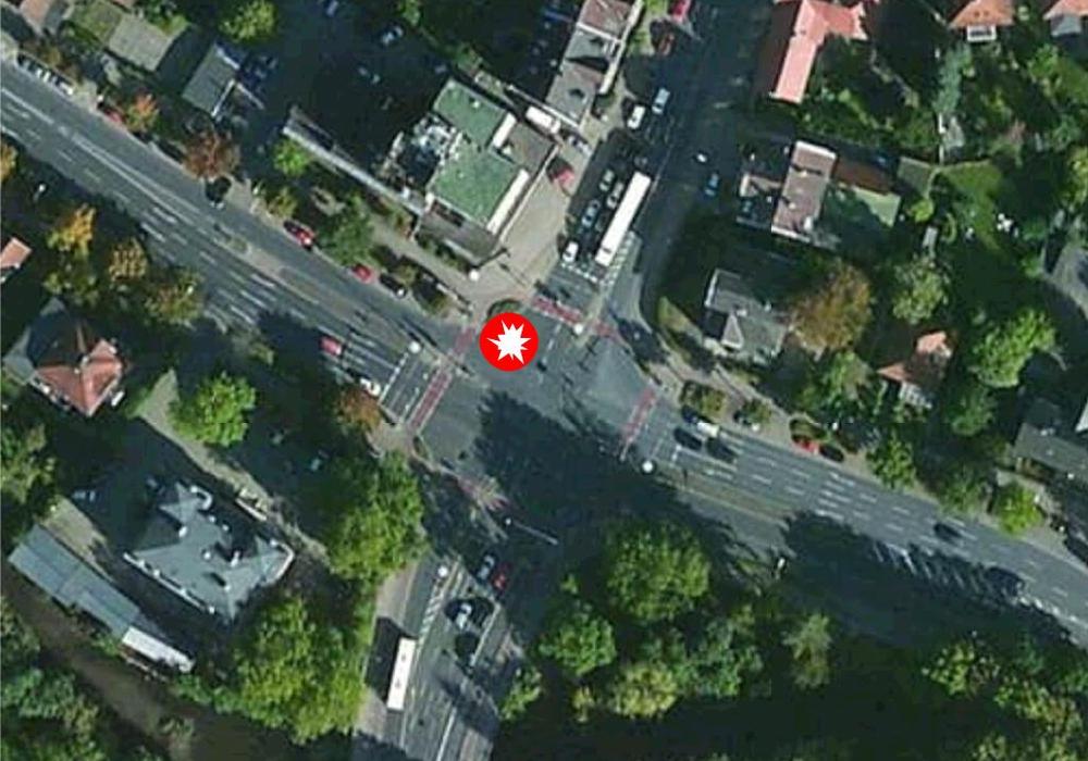 Nach dem tödlichen Unfall an der Kreuzung Grüner Platz gibt es Forderungen, die Verkehrsführung zu ändern. Karte: maps4news/HERE