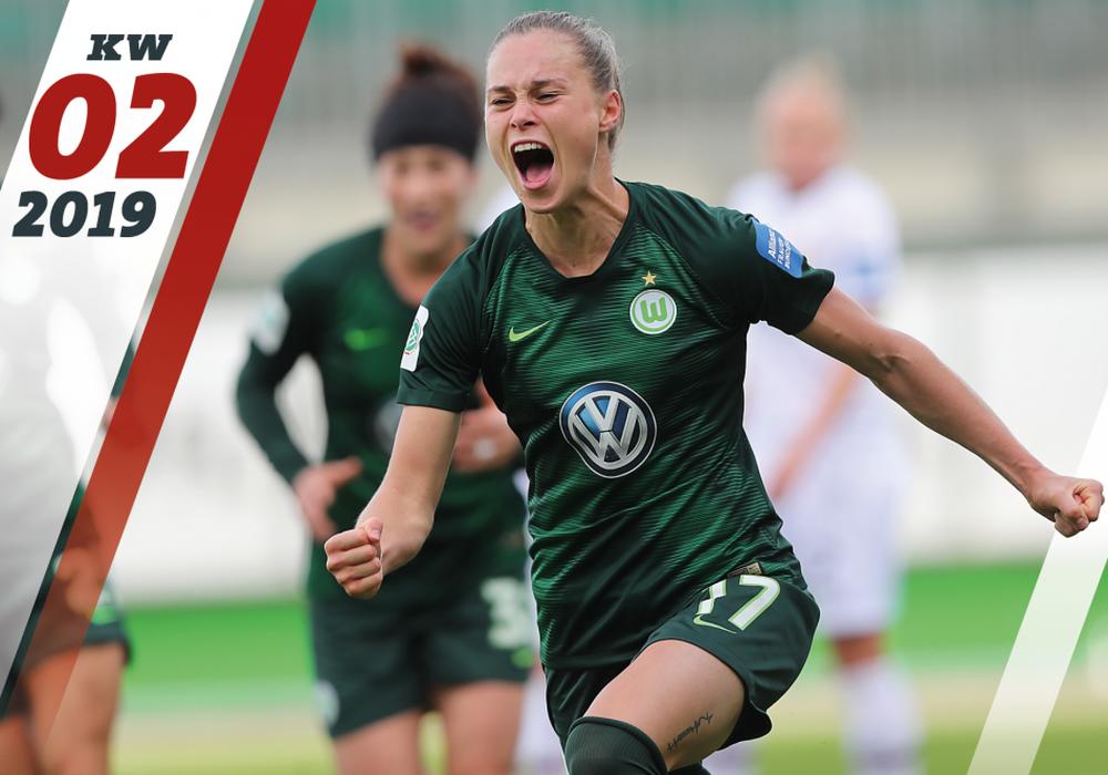 Seit Dienstag sind die Frauen des VfL Wolfsburg wieder im Training. Hält die Traumserie für Ewa Pajor und Co.? Foto: Agentur Hübner