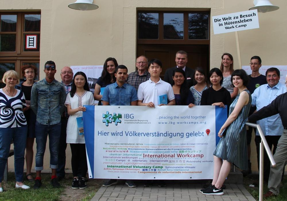 Die Teilnehmer des Workcamps 2016. Archivfoto: Grenzdenkmalverein Hötensleben