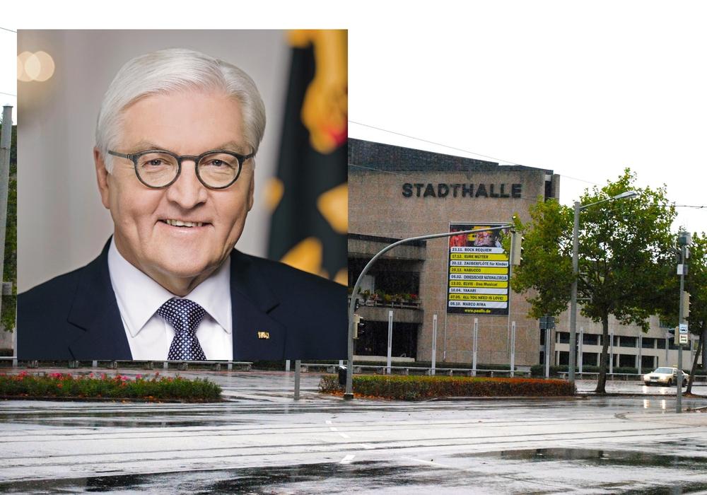 Sonntag findet der Festakt mit Bundespräsident Frank-Walter Steinmeier in der Stadthalle statt. Fotos: DBU/Archiv