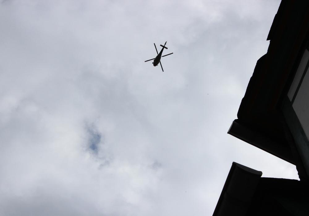 Hubschrauber über Goslar. Symbolfoto: Anke Donner