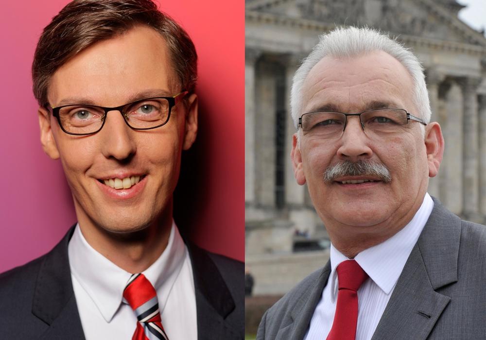 Mitglied des Innen- und Europa- Ausschusses, Dr. Lars Castellucci,  und Mitglied des Bundestags. Dr. Wilhelm Priesmeier, sind am 15. April zu Gast im Lindenhof. Fotos: SPD