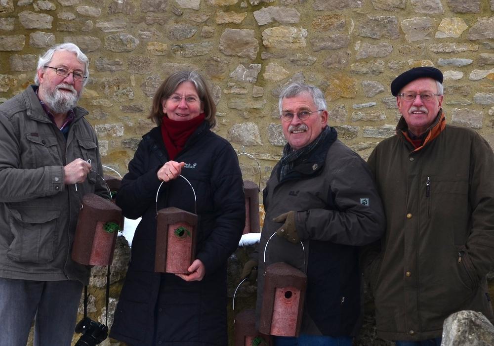 Von links: Karl-Friedrich Weber, Cornelia Schilling, Rolf Reichelt und Klaus-Dieter Bartels. Foto: Privat