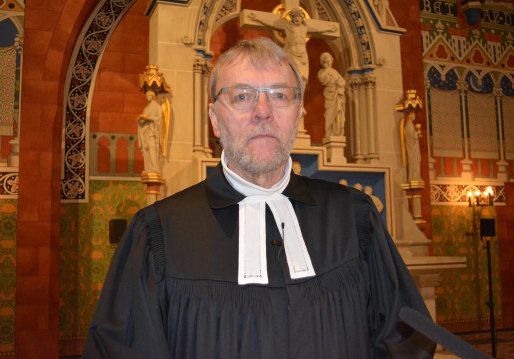 Karfreitag in der St.-Jakobi-Kirche Jakobi: Pastor Frank Niemann. Foto: Evangelisch-Lutherischer Kirchenkreis Peine