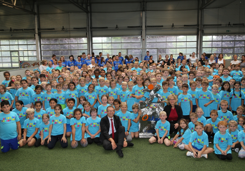 """Das Bewegungsfestival """"Sport-Oskar"""" begeisterte 300 Grundschulkinder. Fotos: BraWo"""