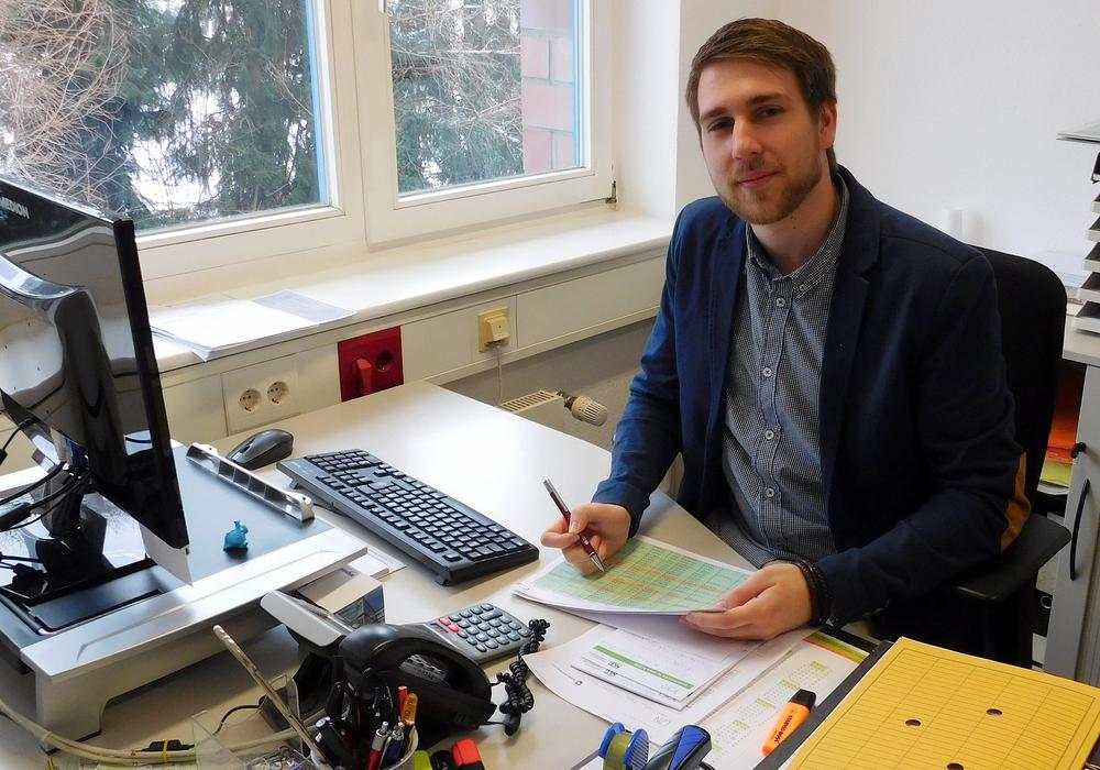 Julian Sprenger hat noch Spaß an seinem Job. Foto: Gemeinde Lehre