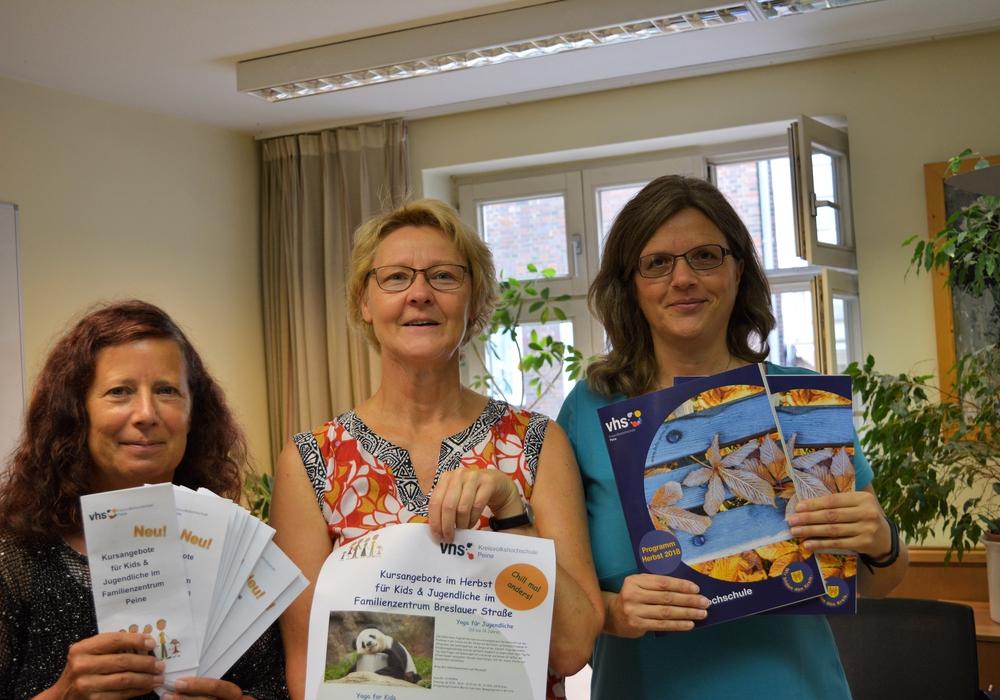 Elke Ostelmann-Janssen, Andrea Ritthaler und Dr Nicole Laskowski. Foto: Ev.-luth. Kirchenkreis Peine
