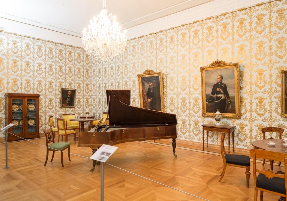 Im Spiel- und Musikzimmer wird am Museumstag Musik erklingen, Foto: Schlossmuseum/M. Kruszewski
