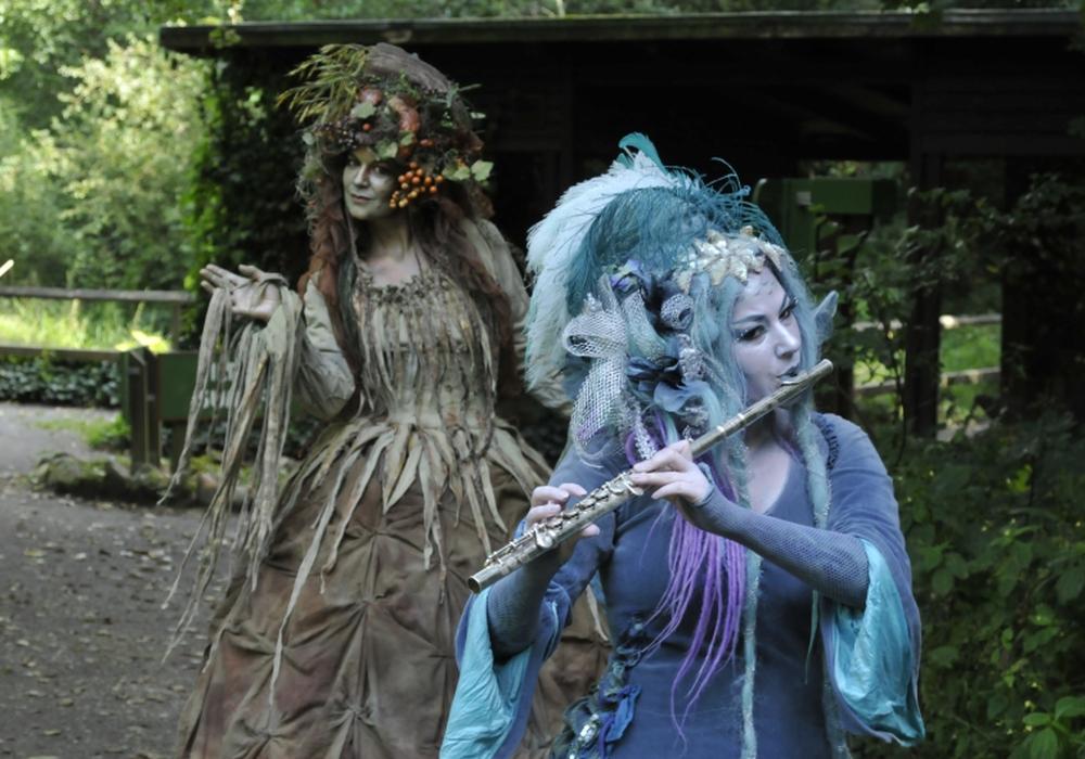 """Zauberhafte Wesen entzücken auch in diesem Jahr wieder die Besucher des """"Zauberwald-Spektakels"""" im OTTER-ZENTRUM."""