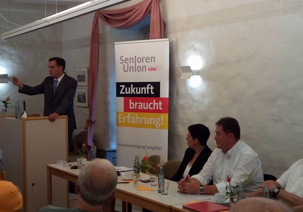 Der EU-Parlamentarier David McAllister sprach über die Zukunft der Europäischen Union nach dem Brexit, die Bedeutung eines stabilen Afrikas und die deutsch-französische Zusammenarbeit in Brüssel.  Foto: CDU