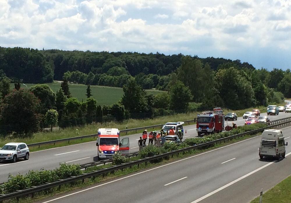 Feuerwehr, Rettungsdienst und Polizei waren vor Ort. Foto: privat