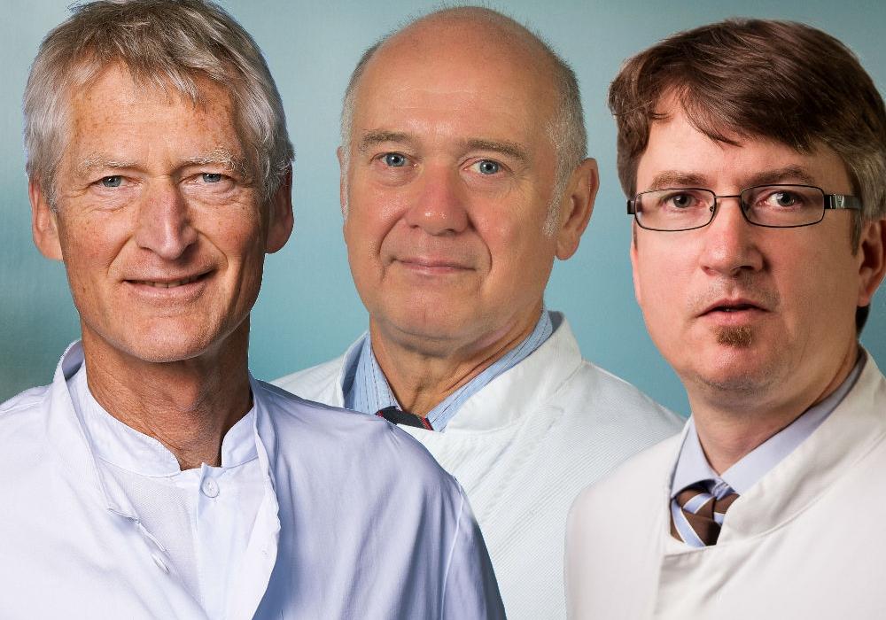 Dr. Peter Flesch, Prof. Dr. Klaus Orth und Dr. Stefan Lange werden die Harzkliniken verlassen. Foto: Asklepios Harzkliniken