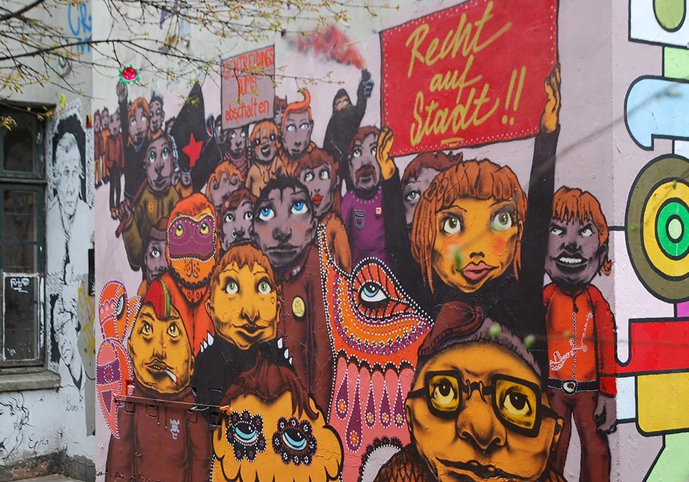 Hamburger Kreative fordern das Recht auf Stadt ein. Foto: Brigitte Wotha