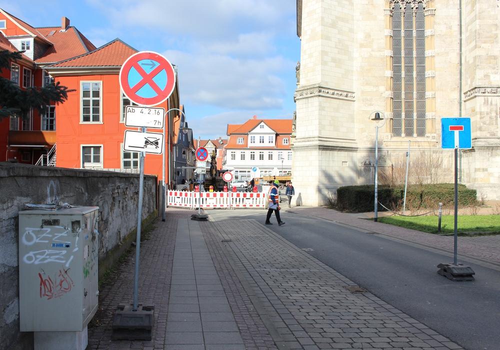 Halteverbot in der Kleinen Kirchstraße. Foto: Jan Borner