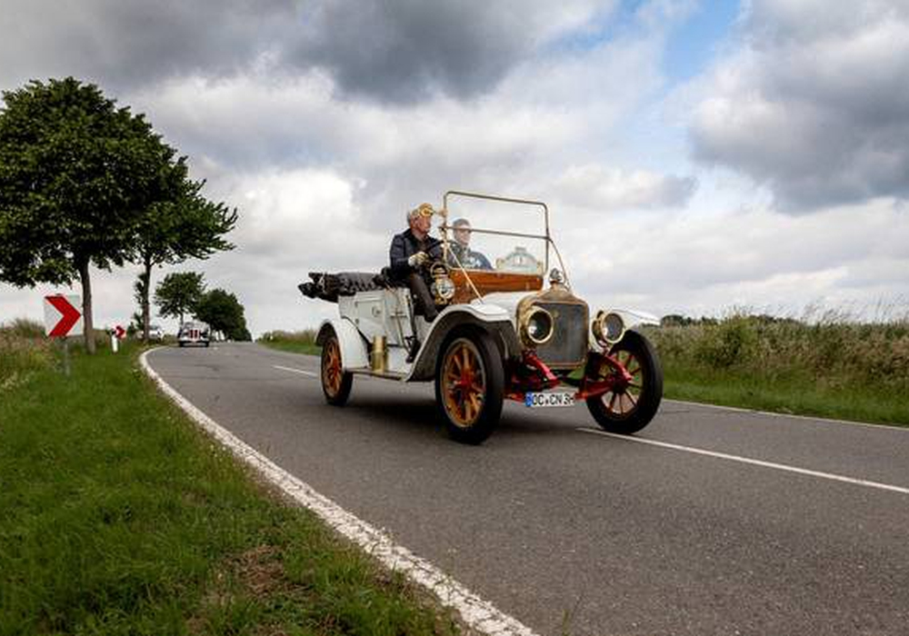 Das Modell T von Ford ist das älteste Fahrzeug im Feld. Foto: White GA