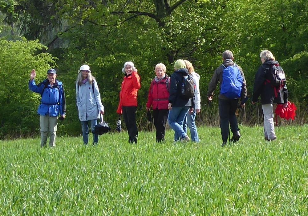 Zur Freude der Wanderer zeigte sich auch mal die Sonne. Foto: Bündnis 90/Die Grünen OV Cremlingen