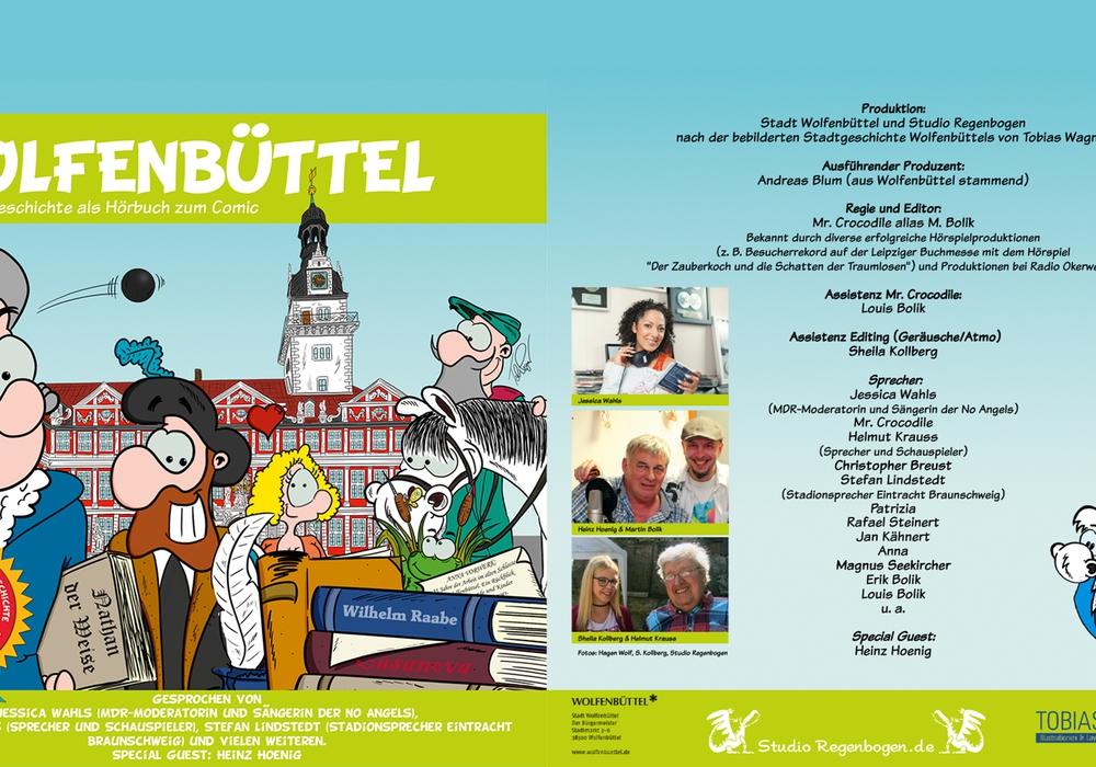 Den von Tobias Wagner gezeichneten Wolfenbüttel-Comic gibt es ab sofort auch als kostenloses Hörbuch. Quelle: Stadt Wolfenbüttel