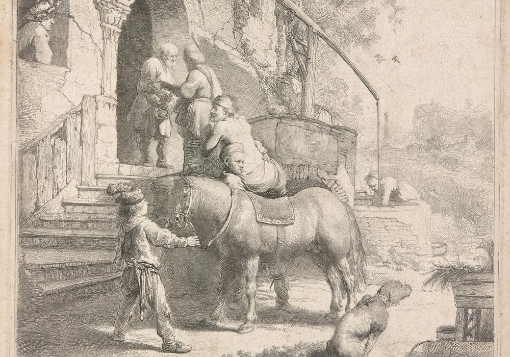 Rembrandt Harmensz. van Rijn, Studie eines sitzenden Hundes. Foto: C. Cordes, Herzog Anton Ulrich-Museum
