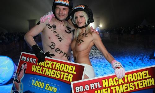 Die Nacktrodel Weltmeister 2012.