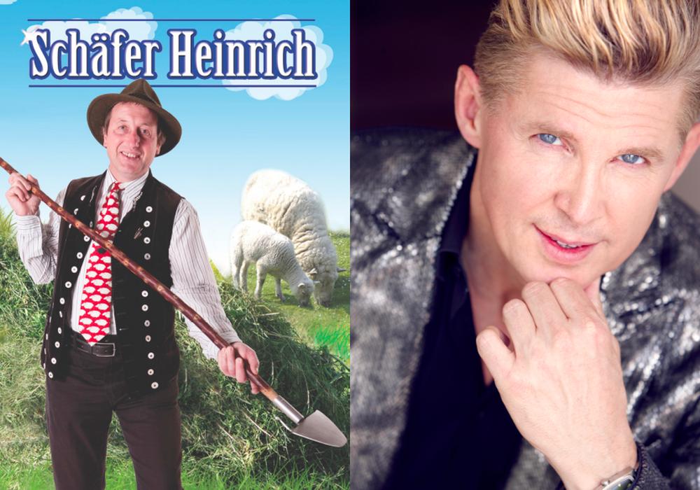 Sänger Markus und Schäfer Heinrich kommen am Sonntag nach Wolfenbüttel. Foto: Veranstalter/Reisebüro Schmidt