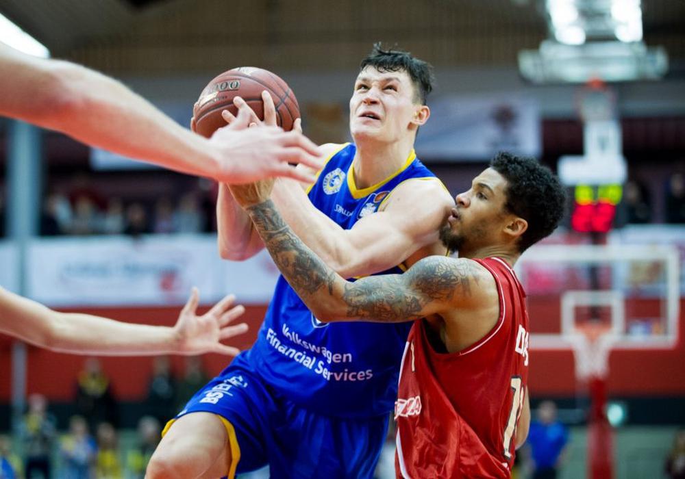 Zygimantas Janavicius und die Basketball Löwen gaben in Giessen eine klare Führung her. Foto: privat