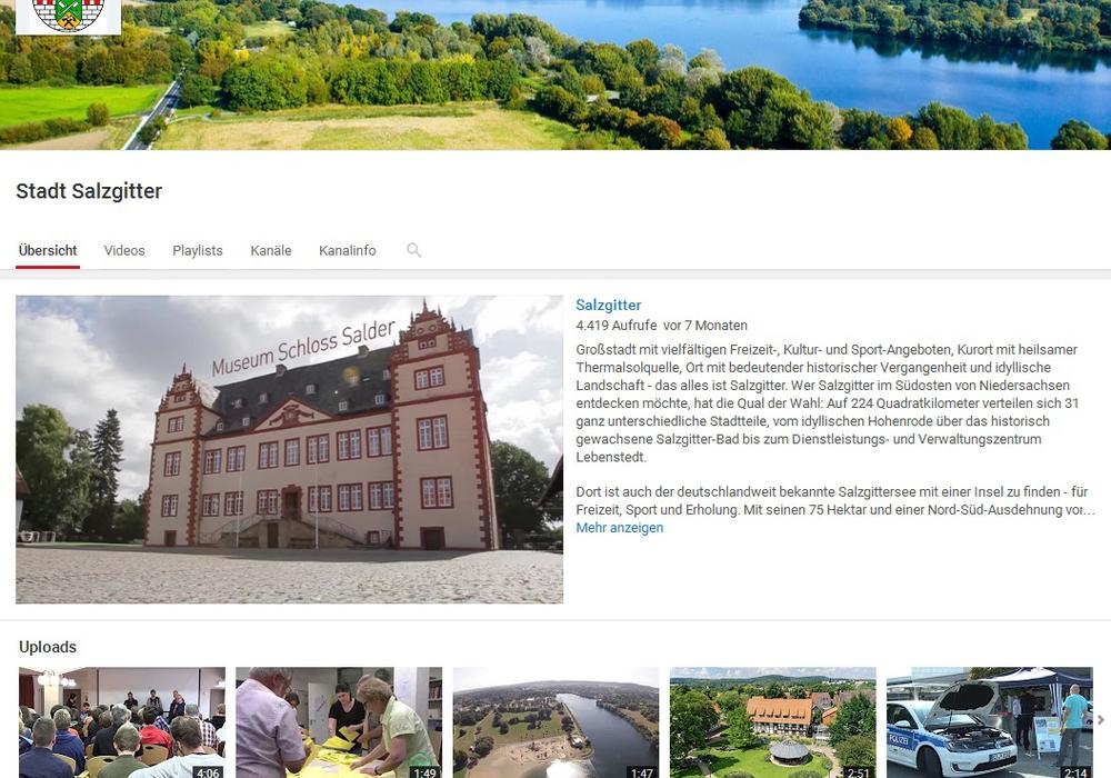 Youtube-Auftritt der Stadt Salzgitter. Foto: Stadt Salzgitter
