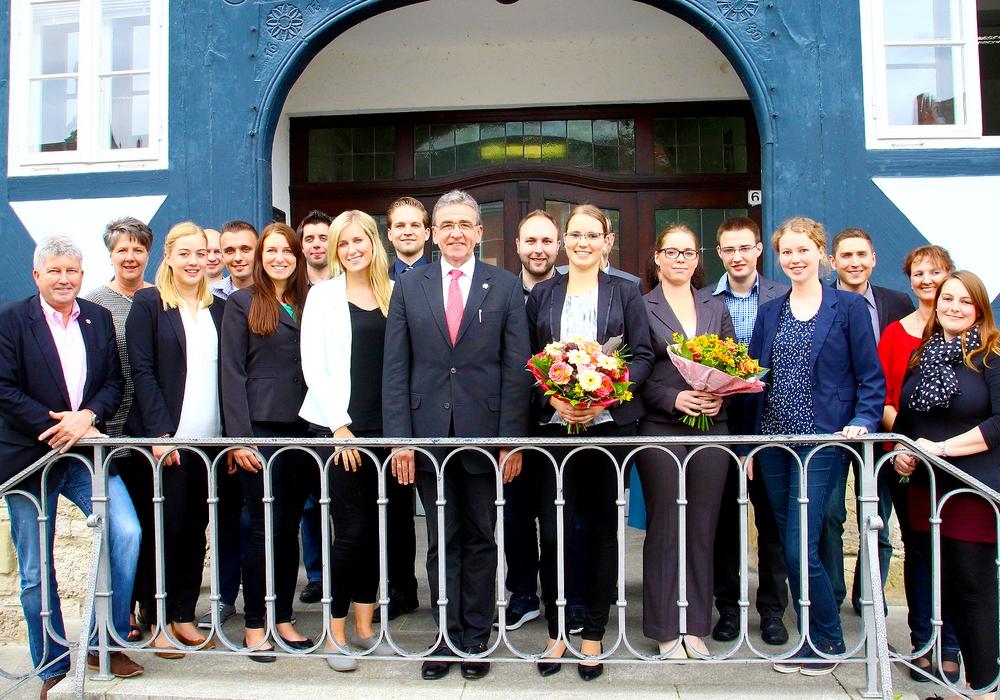 Befoerderungen und Ernennungen im Rathaus Wolfenbüttel. Foto Stadt Wolfenbuettel