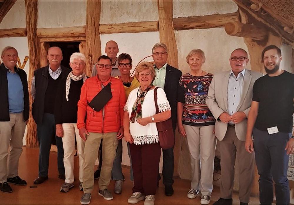 Die CDU-Besuchergruppe bei ihrer Erlebnisführung mit Marco Failla (r.) im Landesmuseum. Foto: Privat
