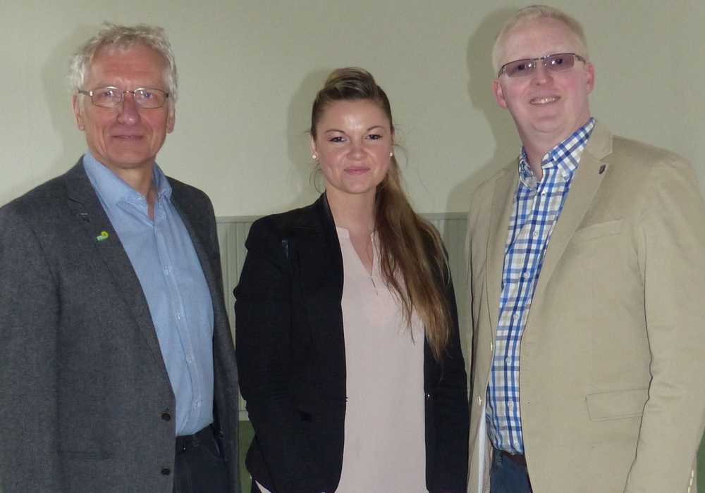 Ina Hallmann, gemeinsam mit Holger Barkhau (links) und Falk Hensel. Foto: Privat