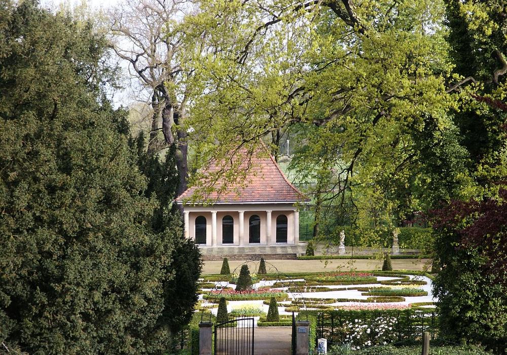Barockgarten im Frühling, Schloss Wolfsburg. Foto: Stadt Wolfsburg