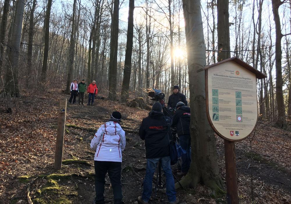 MDR-Dreharbeiten am Teufelsstieg. Foto: Kur- Tourismus- und Wirtschaftsbetriebe der Stadt Bad Harzburg GmbH