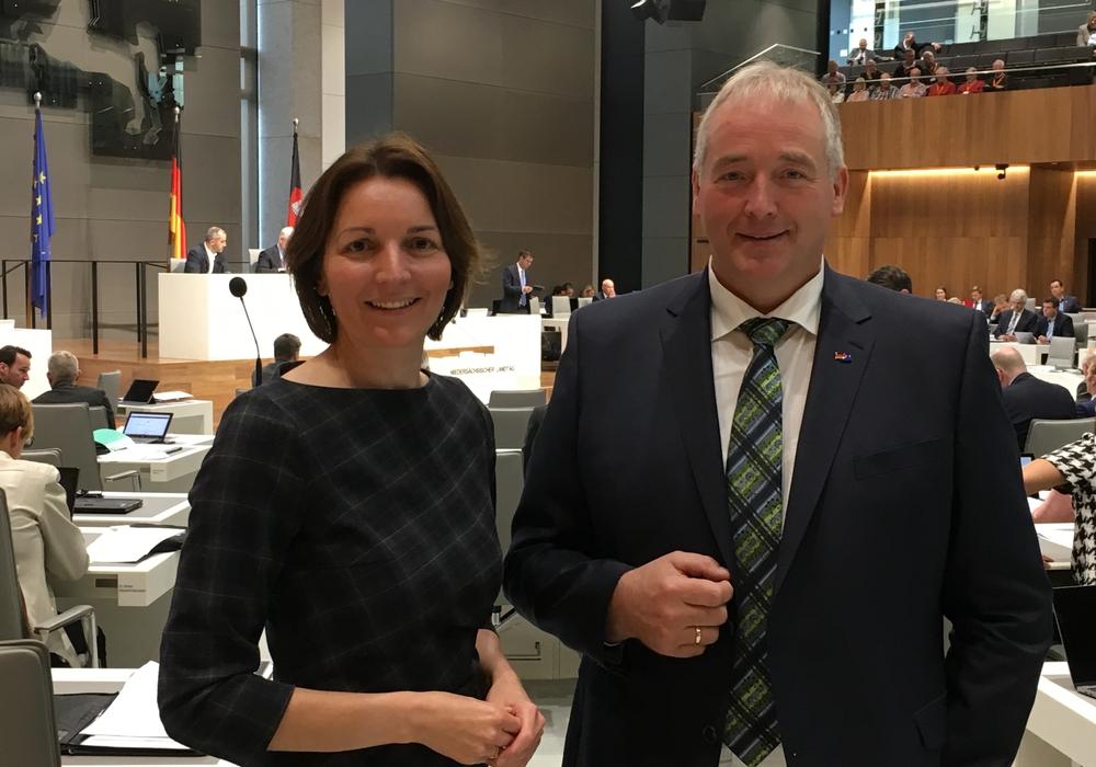 Mareike Wulf MdL und Frank Oesterhelweg MdL. Foto: CDU-Kreisverband Wolfenbüttel