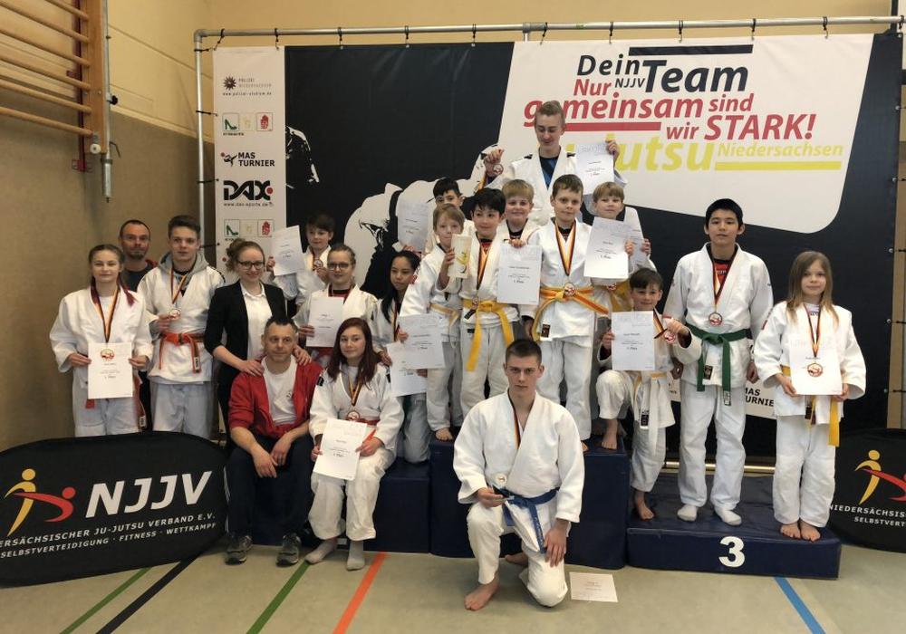 Platz 3 in der Mannschaftswertung für das Goshin-Dojo Helmstedt Foto: Goshin-Dojo Helmstedt