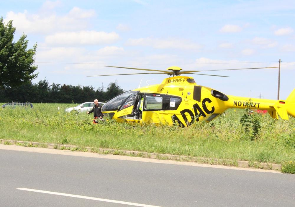 Die Frau wurde mit einem Rettungshubschrauber ins Krankenhaus gebracht. Symbolfoto: Max Förster