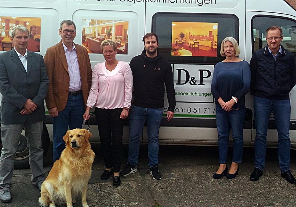 der Vorsitzende des SPD-Arbeitskreises Wirtschaft Jörg Zimmermann und der Landtagsabgeordnete Matthias Möhle besuchten die Firma D&P. Foto: SPD