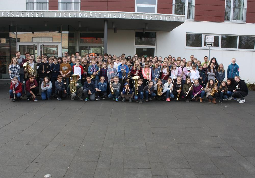 Mit viel Elan und Freude übten über 100 Musiker des THG bereits bei den Musikarbeitstagen im März in der Landesmusikakademie.