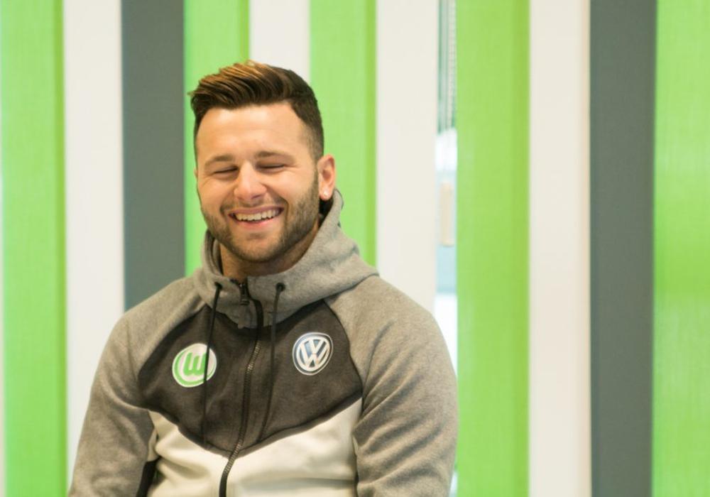 Renato Steffen ist guter Dinge in Wolfsburg angekommen. Foto: Jens Bartels