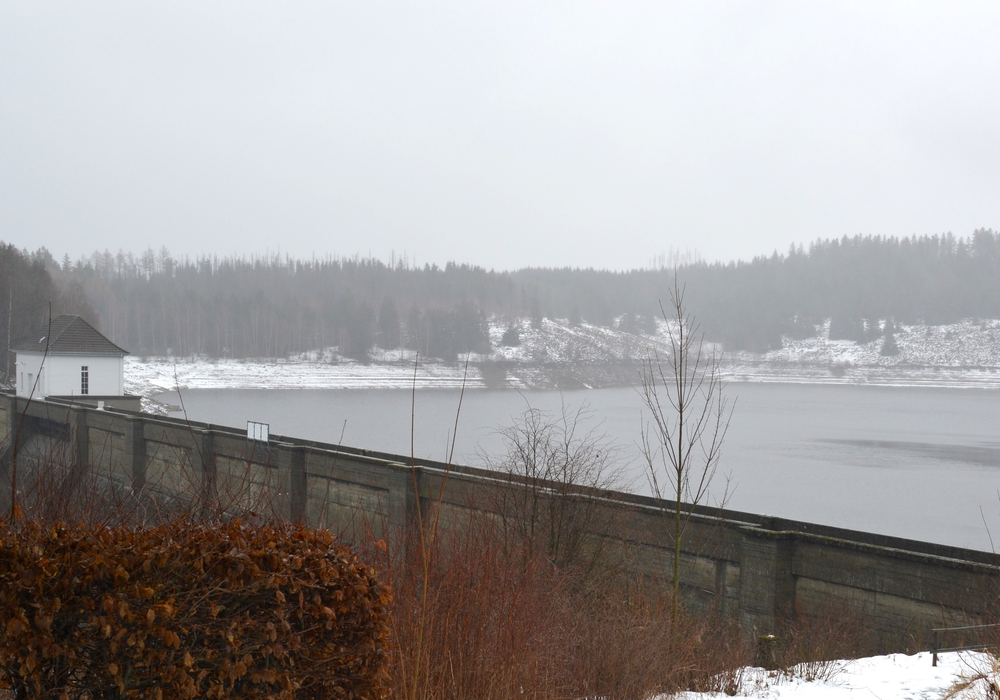 Die Eckertalsperre ist derzeit gut gefüllt. Fotos: Harzwasserwerke