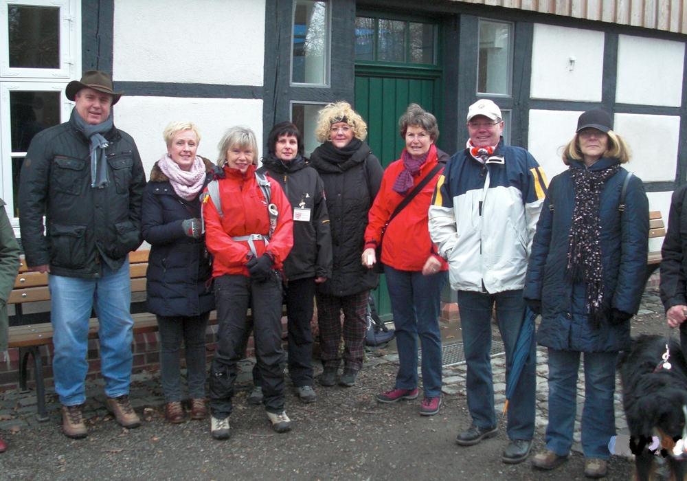 Kiwanis Club trotz schlechten Wetters auf Braunkohlwanderung. Foto: Privat