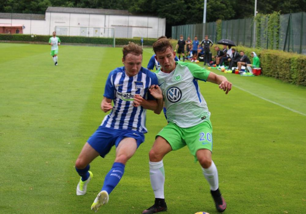 Die VfL-U23 zeigte eine engagierte Leistung im Testspiel gegen den SV Rödinghausen und gewann verdient. Symbolfoto: VfL Wolfsburg