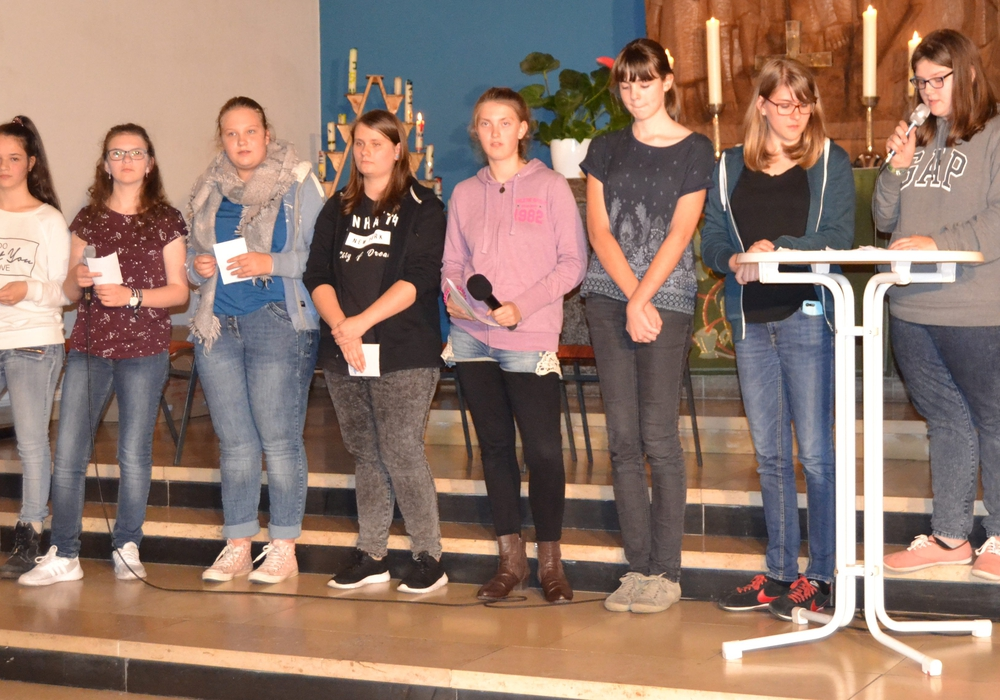 Die Jugendlichen lernten viel bei dem Gottesdienst. Foto: Kirchenkreis