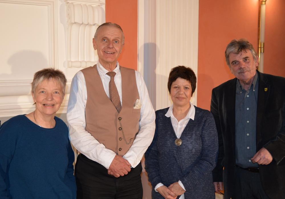Von links: Christiane Wagner-Judith, Bernd Surholt, Margit Richert, Reinhard Deitmar. Foto: Privat