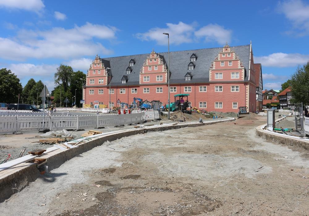 Der Antrag, den Häuserfund auf dem Schlossplatz, in den Umbau zu integrieren wurde abgelehnt. Foto: Anke Donner