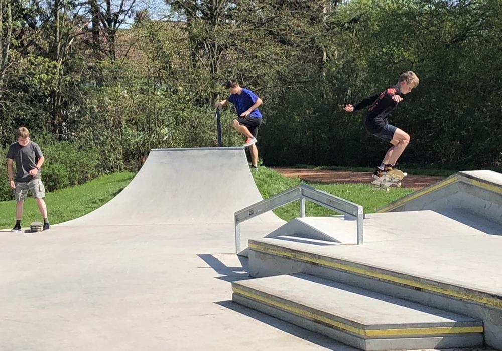 Die Skateranlage wird gut angenommen. Foto: CDU