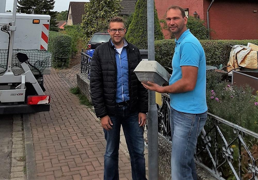 Torben Aster und Marco Schulz. Foto: Gemeinde Lehre