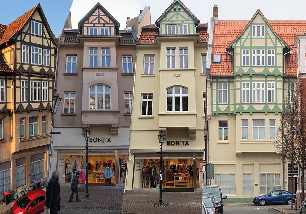 """Das """"Streblowsche Haus"""" erstrahlt sowohl von der Langen Herzogstraße, als auch von der Kanzleistraße aus in neuem Glanz. Artikelbild: Junicke & Co. GmbH & Co. KG, Weitere Fotos: Werner Heise"""