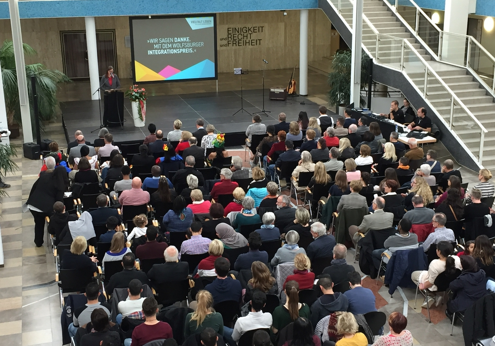 Die Ehrung fand in der Bürgerhalle statt. Foto: Stadt Wolfsburg