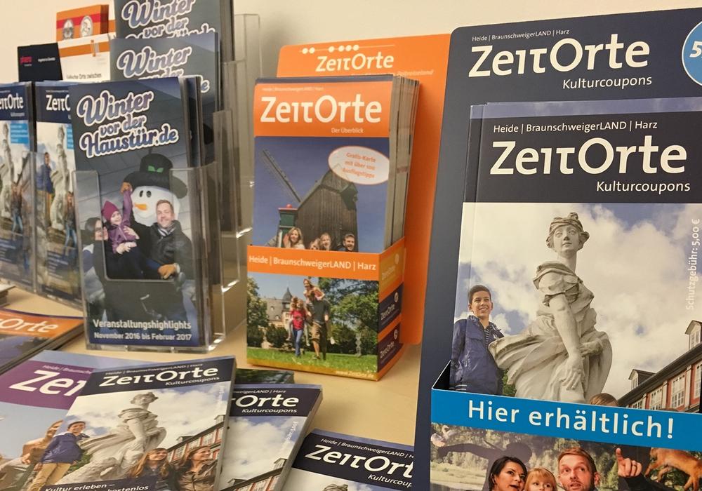 Es gibt sie wieder: die ZeitOrte Kulturcoupons. In Wolfenbüttel sind sie ab sofort in der Tourist-Information am Stadtmarkt erhältlich. Foto: