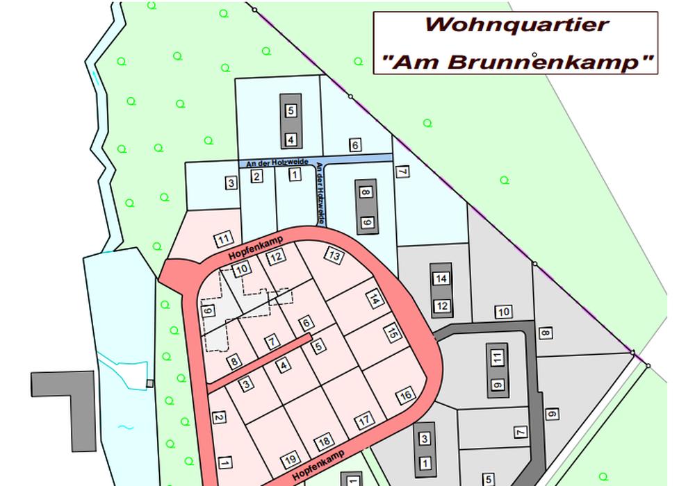 """Die Straßen des Wohnquartiers """"Am Brunnenkamp"""" könnten """"Brunnenkamp"""", """"Hopfenkamp"""", """"Försterkamp"""", """"Mühlenbreite"""" und """"An der Holzweide"""" heißen. Foto: Stadt Goslar"""